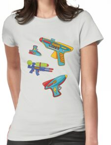 Water gun pattern Womens Fitted T-Shirt