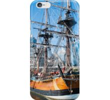 Sydney Darling Harbour and Replica Endeavour Ship iPhone Case/Skin