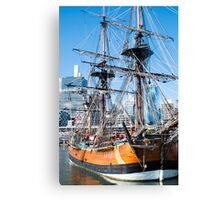 Sydney Darling Harbour and Replica Endeavour Ship Canvas Print