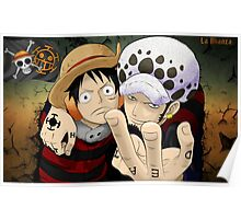 Luffy and Law Poster