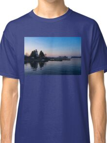 Waiting for Sunrise - Blue Hour at the Lighthouse, Infused with Soft Pink Classic T-Shirt