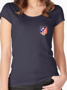 atletico madrid logo Women's Fitted Scoop T-Shirt