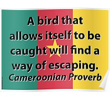 A Bird That Allows Itself - Cameroonian Proverb Poster