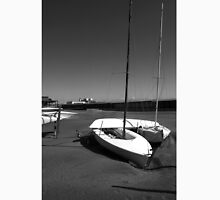 Ostia seafront: beach cabins boat Classic T-Shirt