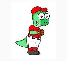 Illustration of a Pachycephalosaurus baseball pitcher. Unisex T-Shirt