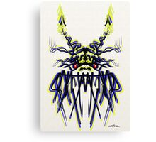 Blue Dragon Design Canvas Print
