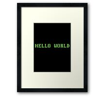 Hello World - DOS Framed Print