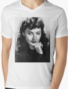 Barbara Stanwyck by John Springfield Mens V-Neck T-Shirt