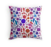 Floral Doodle Pattern Throw Pillow