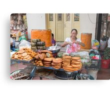 Hanoi Street Food,Old Quarter Metal Print