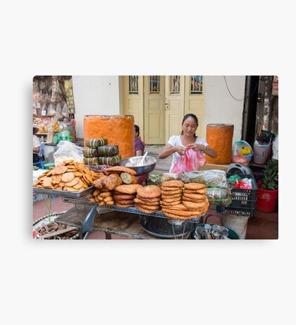 Hanoi Street Food,Old Quarter Canvas Print