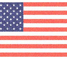 AMERICAN FLAG, FADED, AMERICA, USA, STARS & STRIPES, PURE & SIMPLE by TOM HILL - Designer