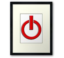 Power, Computers, POWER UP, Shut down, Shut up, SWITCH, Digital devices, electricity, Turn off! Turn on! Framed Print