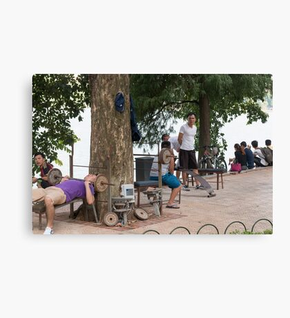 Hanoi Hoan Kiem Lake Exercise Time Canvas Print