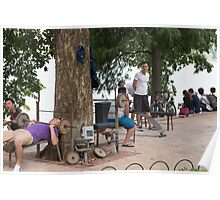 Hanoi Hoan Kiem Lake Exercise Time Poster