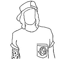 Kellin Quinn outline Photographic Print