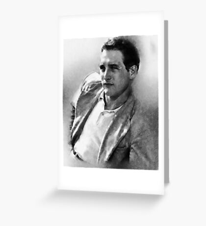 Paul Newman actor by John Springfield Greeting Card