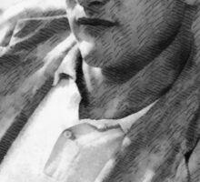 Paul Newman actor by John Springfield Sticker