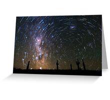 Star Trails over Atacama Desert Cacti Greeting Card