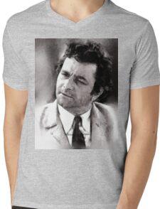 Peter Falk Columbo by John Springfield Mens V-Neck T-Shirt
