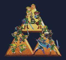 The Legend Of Zelda: Generations of Link Baby Tee