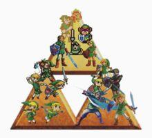 The Legend Of Zelda: Generations of Link One Piece - Short Sleeve