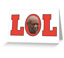Bill Cosby (red) Greeting Card