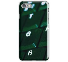 Computer Keyboard Green and black iPhone Case/Skin