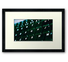 Computer Keyboard Green and black Framed Print