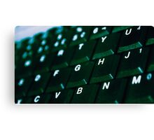 Computer Keyboard Green and black Canvas Print