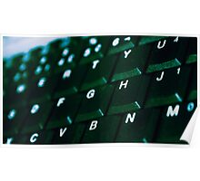 Computer Keyboard Green and black Poster