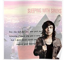 Kellin Quinn- quote + albums Poster