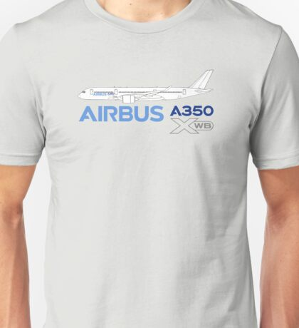 Airbus A350 Line Drawing Unisex T-Shirt