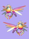 Flying Rainbow Bugs  by LoneAngel