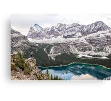 Nancy Over Lake Ohara Canvas Print