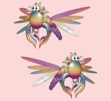 Flying Rainbow Bugs  Baby Tee