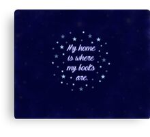 My home is where my books are - quote Canvas Print
