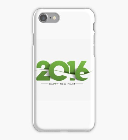 2016, Happy New Year iPhone Case/Skin