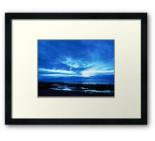 Arm from Above Plays with the Sunset Framed Print