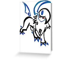 Pokemon Absol - tribal Greeting Card