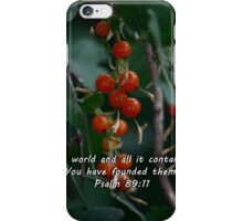 """Psalm 89:11"" by Carter L. Shepard""  iPhone Case/Skin"