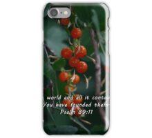 """Psalm 89:11"" by Carter L. Shepard""  iPhone Case/Skin"