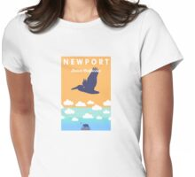 Newport Beach - California. Womens Fitted T-Shirt