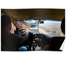 On our way to Tiznit through the mountains of Anti-Atlas Poster