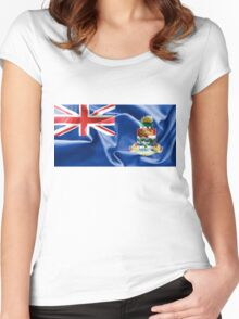 Cayman Islands Flag Women's Fitted Scoop T-Shirt