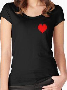 Broken Pixel - Determined Pixel Heart Women's Fitted Scoop T-Shirt