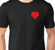 Broken Pixel - Determined Pixel Heart Unisex T-Shirt