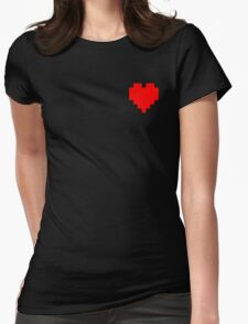 Broken Pixel - Determined Pixel Heart Womens Fitted T-Shirt