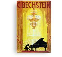 Vintage C. Bechstein German Piano Advertisement Canvas Print