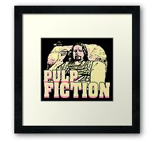lance pulp fiction black light Framed Print
